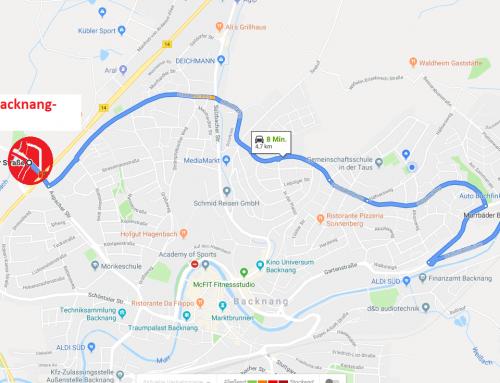Anfahrtsweg – Änderungen wegen Baustellen